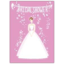 Bridal Shower Invitations With Picture Of Bride Pink Portrait