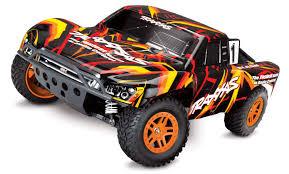 100 4x4 Rc Truck Amazoncom Traxxas Slash RC 110 Scale Orange Red