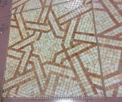 mosaic medallions square medallions glass ceramic shell