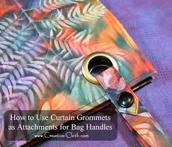 Dritz Curtain Grommet Kit by How To Use Curtain Grommets As Attachments For Bag Handles Bag