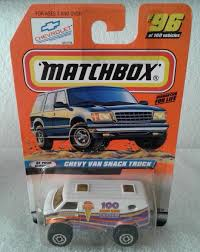 MATCHBOX CHEVY VAN Snack Truck #96 1:64 Scale Diecast 1998, White ...