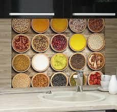 details zu wandsticker wandschutz klebefolie aufkleber spritzschutz küche gewürze