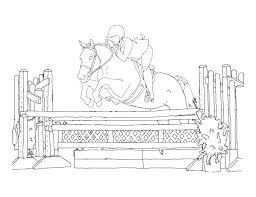Horse Racing Coloring Pages Woman On Jumping