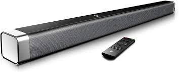 bomaker soundbar 2 0 kanal soundbar 120 db 37 zoll lautsprecher bluetooth 5 0 mit eingebaute bass dsp für tv mit aux usb optischer anschluss