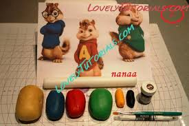 Alvin And The Chipmunks Cake Decorations by Gumpaste Fondant Polymer Clay Alvin And The Chipmunks