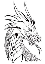 Click To See Printable Version Of Dragon Head Coloring Page