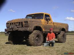 Yellow Ford Monster Ford Mud Truck