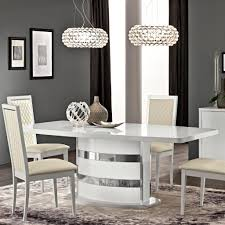 100 White Gloss Extending Dining Table And Chairs Caligula Italian High 2245m