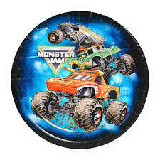 Monster Jam Party Supplies - Dessert Plate (24) Shop Authentic 00433 ... Cupcake Toppers Dragons Unicorns Birthday 1st Monster Truck Monster Thank You Tags Party Supplies Wwwtopsimagescom Nestling Reveal Ideas Moms Munchkins Download Birthday Party Decorations Clipart Car Truck Jam 3d Dessert Plates Halloween 2018 Sweet 1 Terrifically Two Whimsikel Cake Amazmonster Au Cre8tive Designs Inc