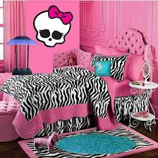 bedding high monster bedroom decor monster high doll wallpaper