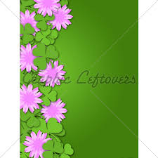 Shamrock Paper Cutting Clover Flowers Border Il
