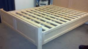 ana white modified farmhouse pottery barn bed frame diy projects
