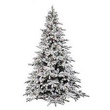 Vickerman 75 Flocked Utica Artificial Christmas Tree With 700 Multi LED Lights