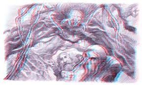 Is it possible to create 3D red cyan anaglyphs in a hand drawing