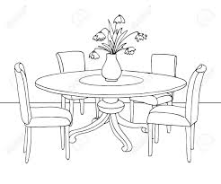 Dining Room Clipart Black And White With Table Home Decor Renovation