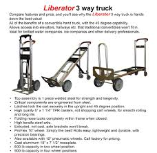 Liberator 3 Way Truck | ADD-Vantage Casters & Material Handling, Inc. Milwaukee Medical Cylinder Hand Truck 40767 From 15229 Nextag Set Of 2 5 Replacement Casters For Convertible Trucks W Brake Shop Magliner 1000lb Capacity Silver Alinum Magliner Dual Grip Overall Height 51 Heavy Duty Steel On Wesco Industrial Products Inc Gemini Sr Gma81uaf Bh Photo And Truckdomeus Marathon Industries 00313 8 Fixed Caster With Airfilled Pneumatic Pvi In Stock Uline