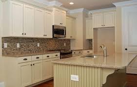 Kitchen Antique White Kitchen Cabinets With Granite Countertops