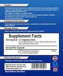 all natural 5 htp 120 veggie capsules promotes healthy sleep