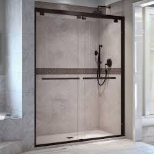 dreamline encore 56 in to 60 in x 76 in frameless bypass shower