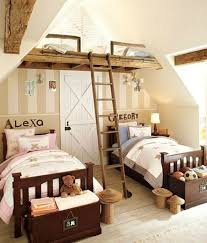 kinderzimmer komplett rustikal mit hohem gästebett