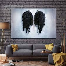 100 Pop Art Home Decor Modern Angel Wings Wall Posters And Prints Abstract Angel Feather Canvas Pictures For Living Room Cuadros