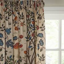 Lined Curtains John Lewis buy morris u0026 co kelmscott tree lined pencil pleat curtains multi