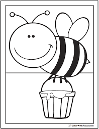 Cool Ideas Honey Bee Coloring Pages Hives Flowers And