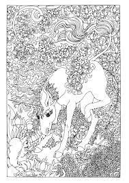 Unicorn Fantasy Myth Mythical Mystical Legend Licorne Enchantment Coloring Pages