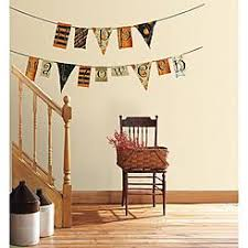 RoomMates Happy Halloween Pennants Peel And Stick Wall Decals