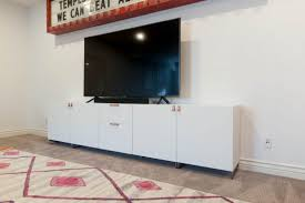 wide media cabinet besta ikea details all things thrifty