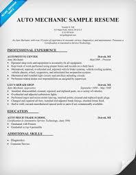 13 Auto Mechanic Resume Sample
