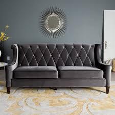 fresh stunning grey velvet sofa sale 7762