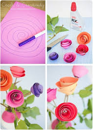 How To Make Easy Paper Rose Flowers Step By