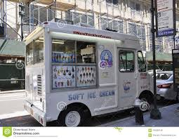 New York City,2nd July: Ice Cream Truck From The Fifth Avenue In ...