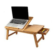 Mind Reader Bamboo Laptop Bed Tray 9 H x 21 W x 13 5 D Brown