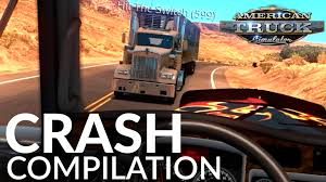 American Truck Simulator Multiplayer Funny Crash Compilation #1