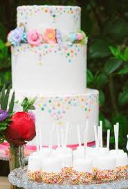 Confetti Wedding Cake With Pops