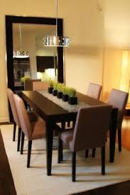 Charming Mirror Centerpieces Mostly In The Dining Room Brilliant With Pendant Lamp Over Black