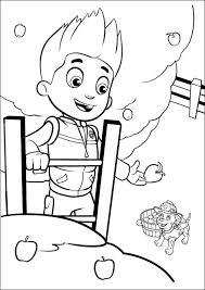 Paw Patrol Coloring Pages Ryder And Marshall