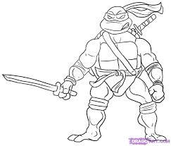 Ninja Turtle Coloring Pages AZ