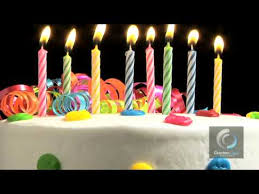 Birthday Cake with Candles stock video