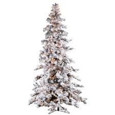 Pre Lit Flocked Artificial Christmas Trees by Christmas Whites Sterling Pre Lit Christmas Trees 64 1000