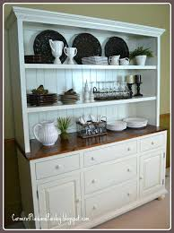 Buffet With Open Hutch Dining Room Ideas Amusing White Rectangle Modern Wooden Stained