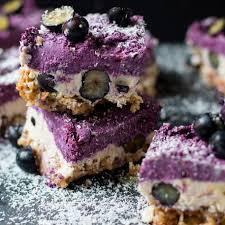 heidelbeer kuchen ohne backen veganes rezept