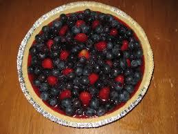 Fresh No Bake Strawberry Blueberry Pie