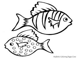 Angel Fish Coloring Pages Printable Realistic Rainbow Free For Adults Bass Small