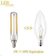 retro led filament bulb 2w 2700k e12 e14 base edison t20 t6