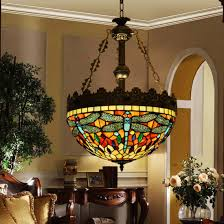Tiffany Style Lamps Canada by Makenier Vintage Tiffany Style Stained Glass Dragonfly Inverted