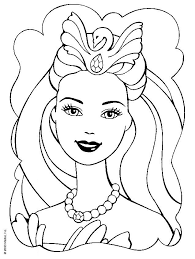 Barbie Doll Face Coloring Pages Images Pictures