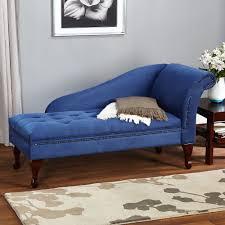 Modern Chaise Lounge Vintage Chair Blue Beige Brown ...